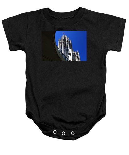 Gothic Tribune Tower Curve Baby Onesie