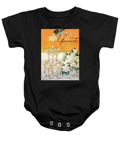 Gourmet Cover Featuring A Pyramid Of Champagne Baby Onesie