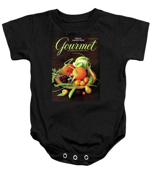 Gourmet Cover Featuring A Variety Of Fruit Baby Onesie