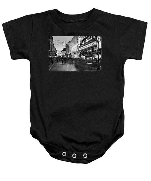 Grafton Street At Night / Dublin Baby Onesie