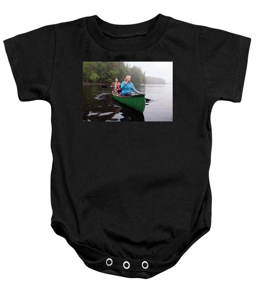 Grandparents And Grandchildren Canoeing Baby Onesie