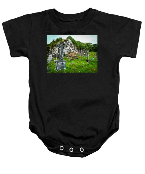 Graveyard And Church Ruins On Ireland's Mizen Peninsula Baby Onesie