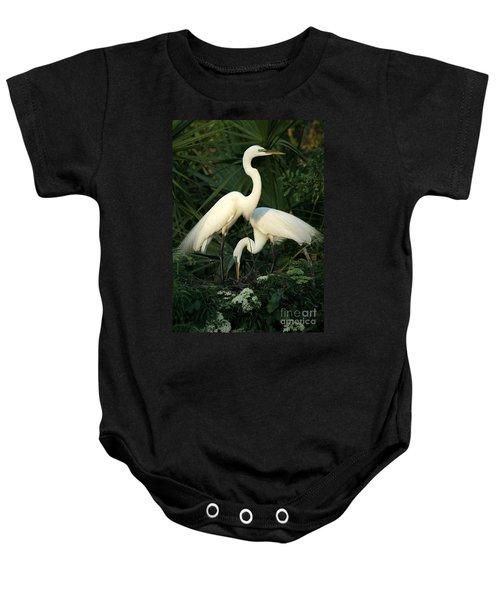 Great White Egret Mates Baby Onesie