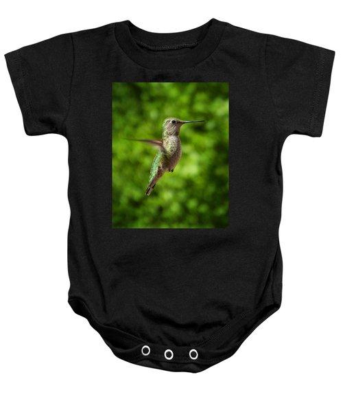 Green Hummingbird Baby Onesie