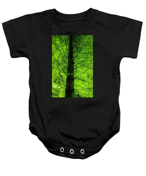 Green On Green Baby Onesie