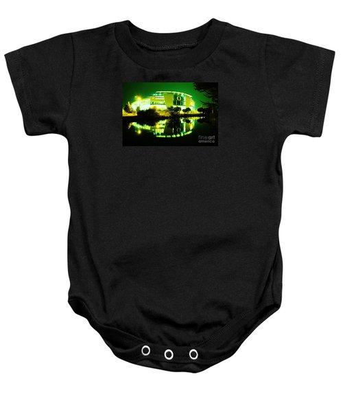 Green Power- Autzen At Night Baby Onesie