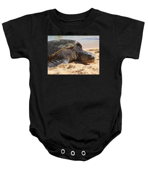 Green Sea Turtle 2 - Kauai Baby Onesie