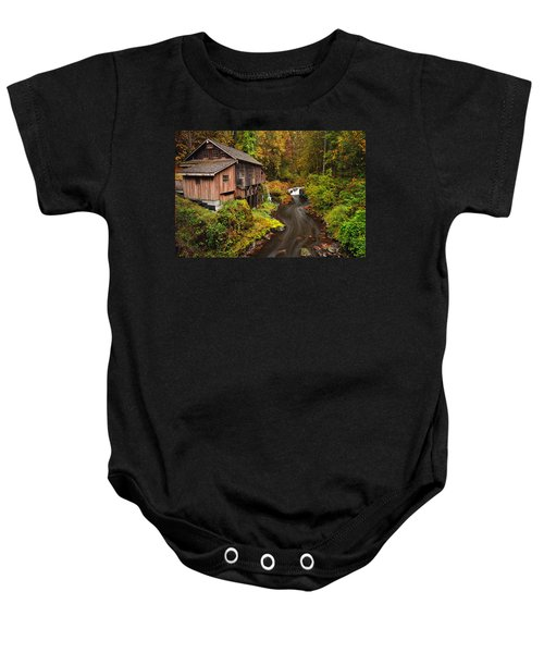 Grist Mill In Autumn Baby Onesie