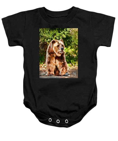 Grizzly Bear - Painterly Baby Onesie