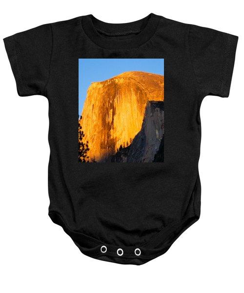Half Dome Yosemite At Sunset Baby Onesie