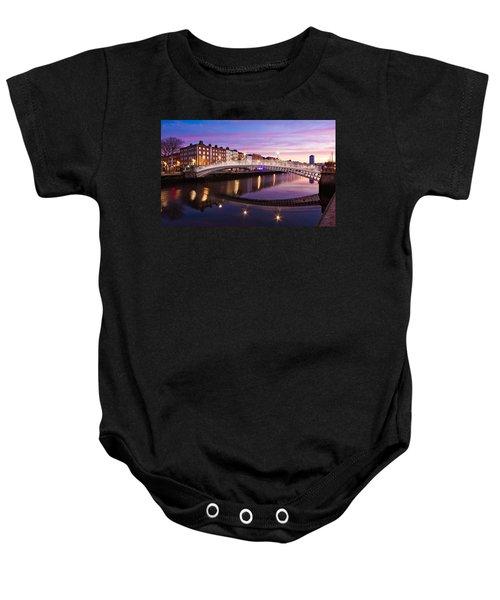 Hapenny Bridge At Dawn - Dublin Baby Onesie
