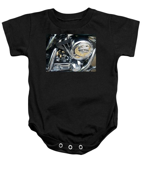 Harley Live To Ride Baby Onesie