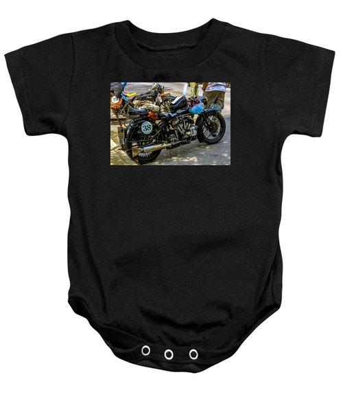 Harleys And Indians Baby Onesie