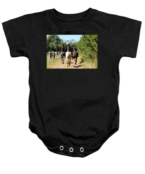 Heading To The Cross Country Course Baby Onesie