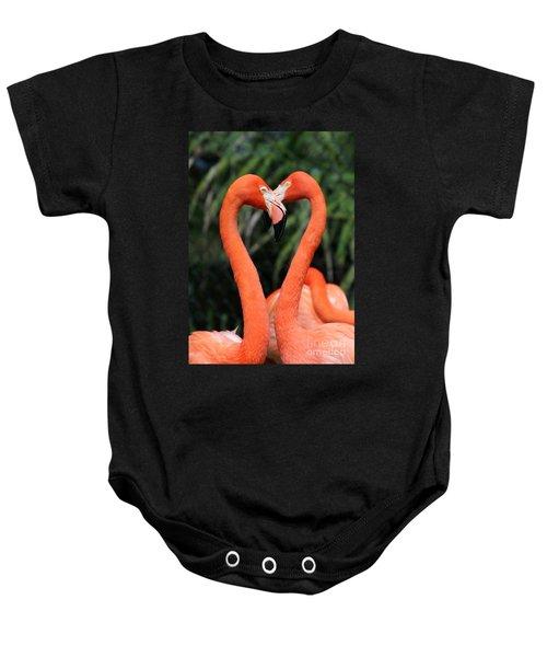 Heart To Heart Flamingo's Baby Onesie