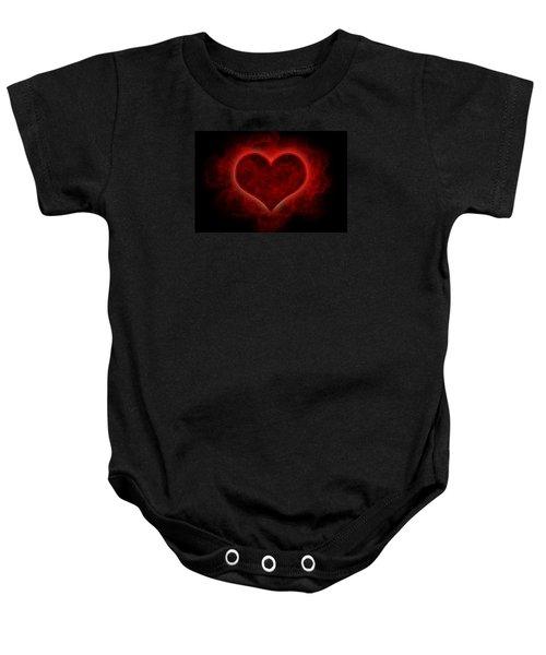 Heart's Afire Baby Onesie