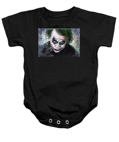 Heath Ledger The Dark Knight Baby Onesie by Viola El