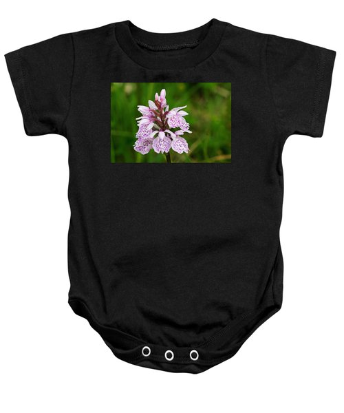 Heath Spotted Orchid Baby Onesie