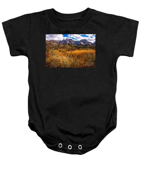 Baby Onesie featuring the photograph Here To There by Mark Myhaver