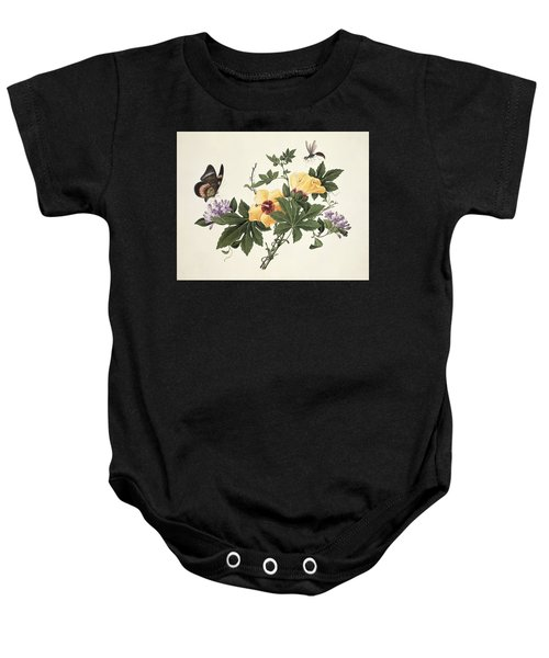 Hibiscus And Butterfly Baby Onesie