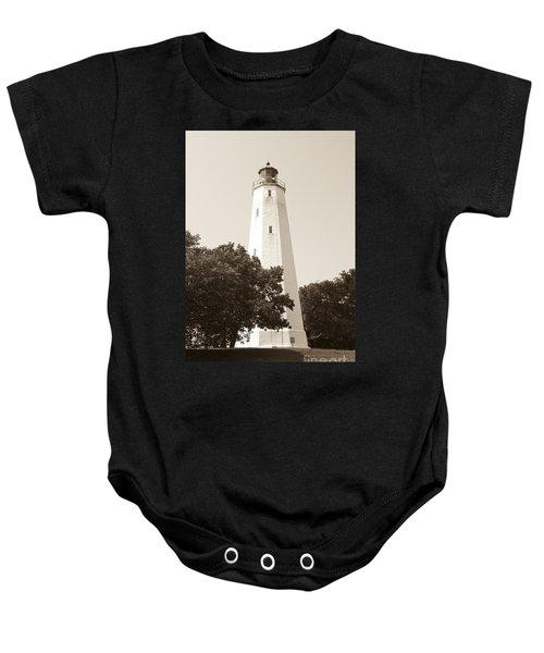 Historic Sandy Hook Lighthouse Baby Onesie