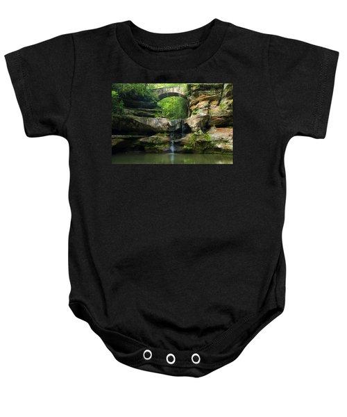 Hocking Hills Waterfall 1 Baby Onesie