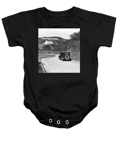 Hollywoodland Baby Onesie