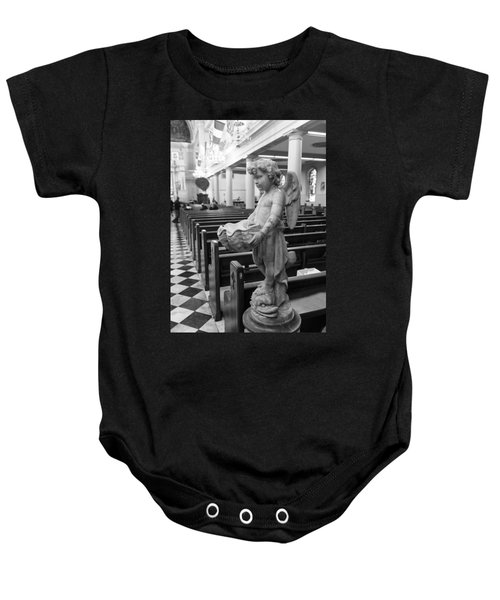 Holy Water Angel In Church Baby Onesie
