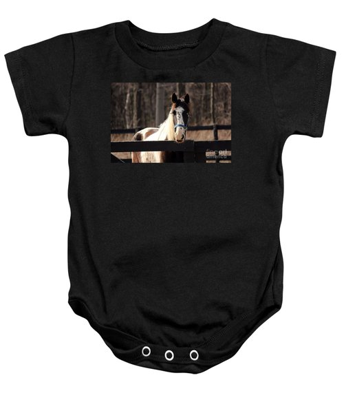 Horse At The Gate Baby Onesie