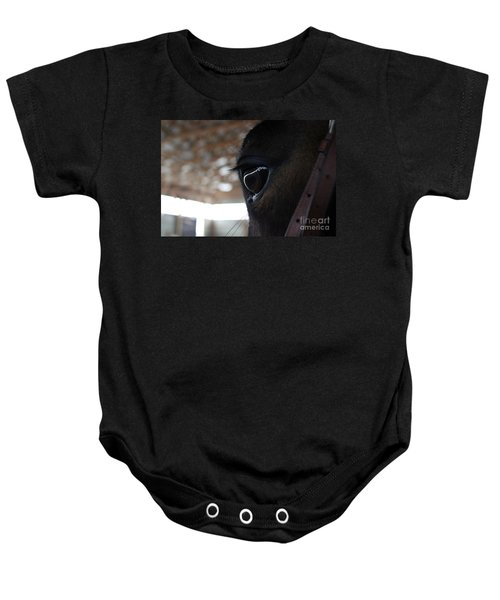 Horse Eye From Behind Baby Onesie