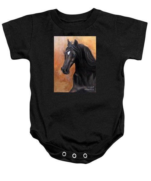 Baby Onesie featuring the painting Horse - Lucky Star by Go Van Kampen