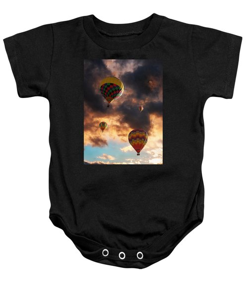 Hot Air Balloons - Chasing The Horizon Baby Onesie