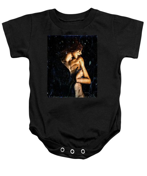 Hunger  Baby Onesie by Bob Orsillo