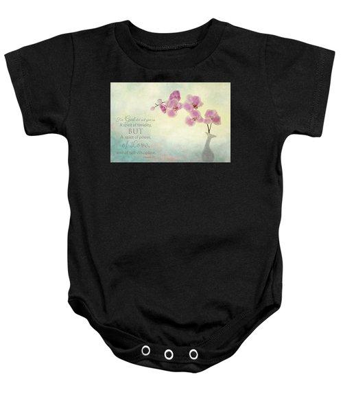 Ikebana With Message Baby Onesie