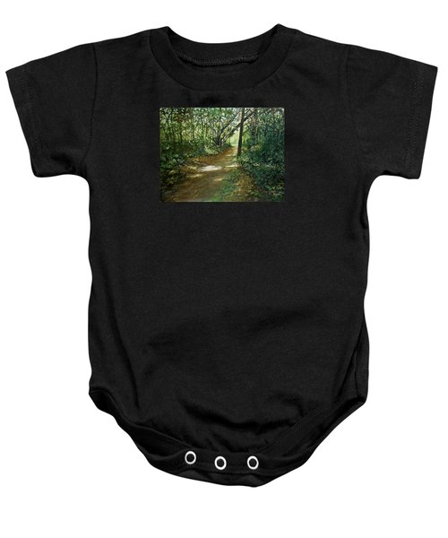 In And Out Of The Shadows Baby Onesie