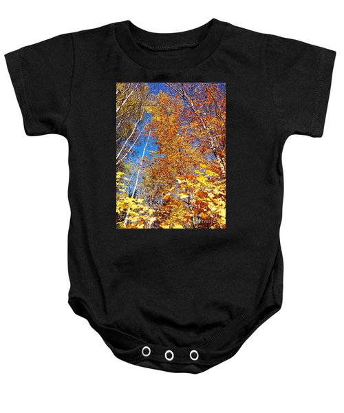 In The Forest At Fall Baby Onesie