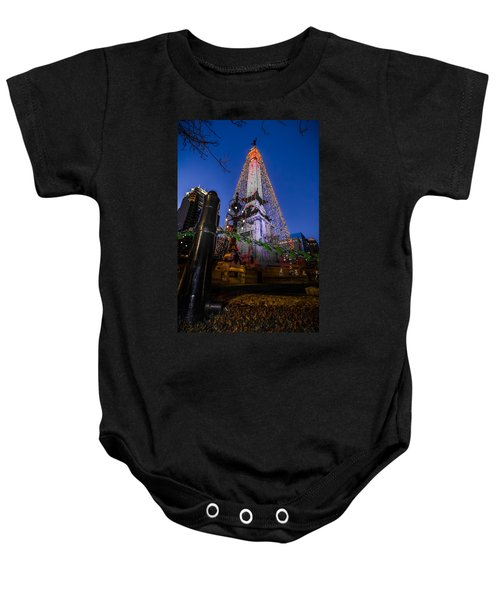 Indiana - Soldiers And Sailers Monument With Lights Baby Onesie