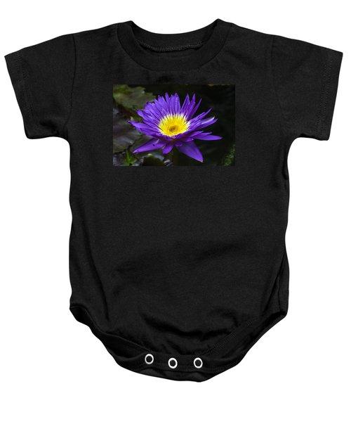 Indigo Water Lotus Baby Onesie
