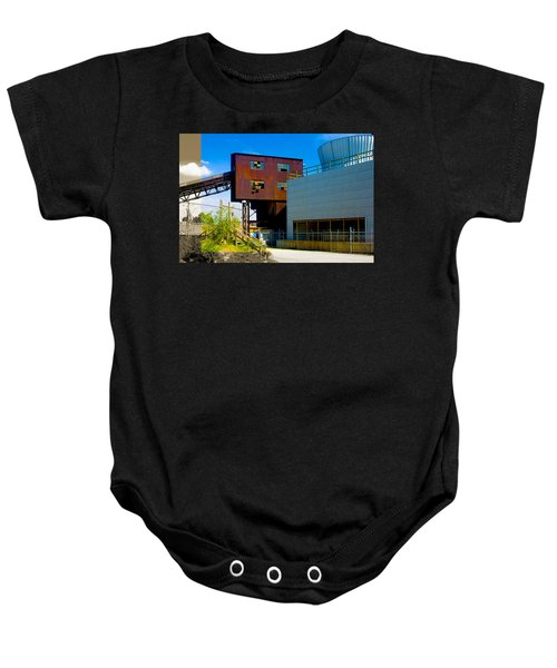 Industrial Power Plant Architectural Landscape Baby Onesie