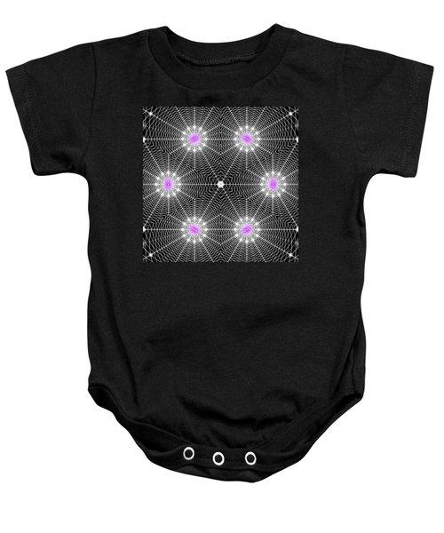 Infinity Grid Six Baby Onesie