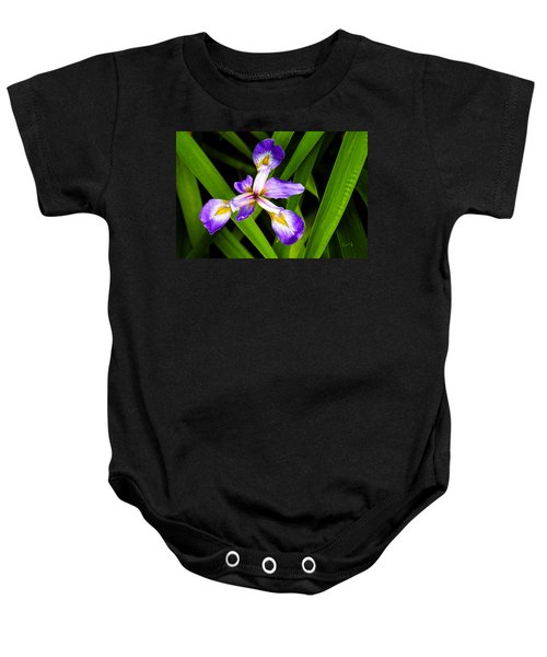 Iris Pinwheel Baby Onesie
