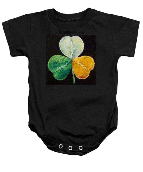 Irish Shamrock Baby Onesie