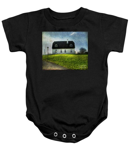 Irish Thatched Roofed Home Baby Onesie