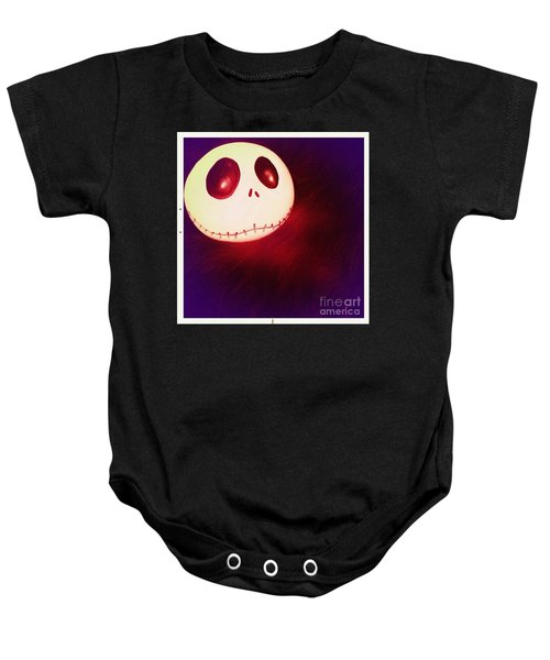 Jack Skellington Glowing Baby Onesie