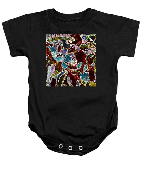 Japanese Quince In Abstract Baby Onesie
