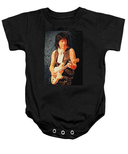 Jeff Beck Baby Onesie by Taylan Apukovska