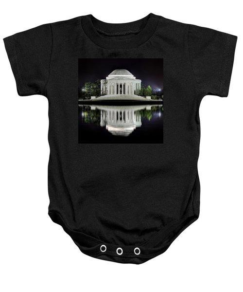 Jefferson Memorial - Night Reflection Baby Onesie