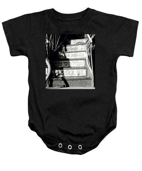 Jewish New York Baby Onesie