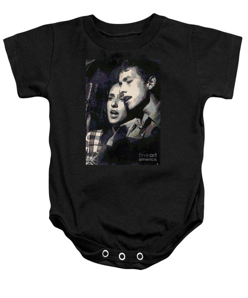Joan Baez And Bob Dylan Baby Onesie