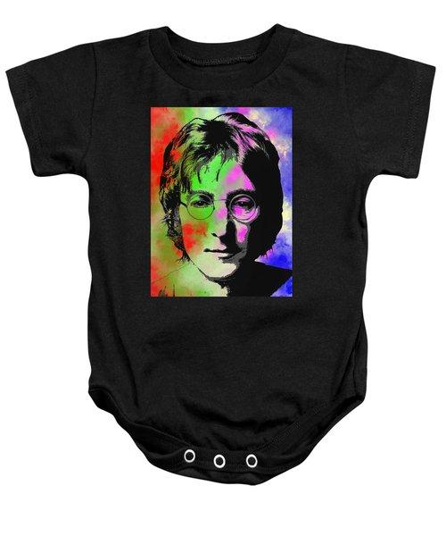 John Lennon Pop Art Closeup Baby Onesie